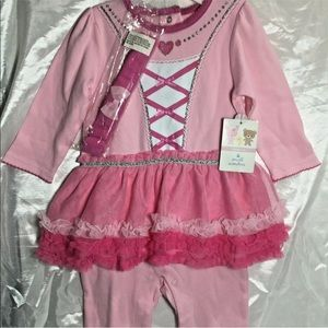 Infant Ballerina Girls Outfit 6/9 months Pink